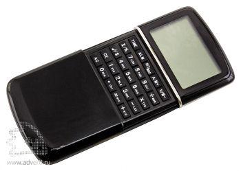 Калькулятор с календарем, черный