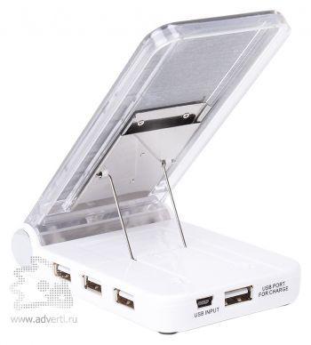 Картридер c Usb-разветвителем и зарядным устройством для мобильного телефона, вид сзади