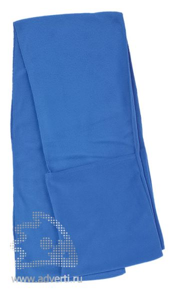Шарф с карманами, синий