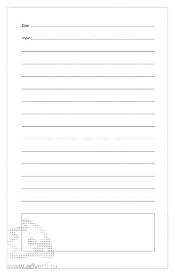 Блокнот «Fancy», внутренний блок, линованная страница