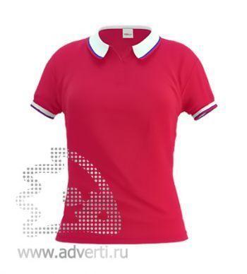Рубашка поло «Stan Russian W 10», женская, красная