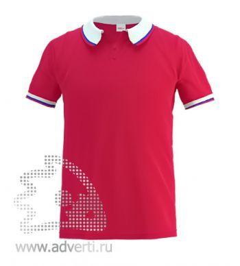 Рубашка поло «Stan Russian 10», мужская, красная