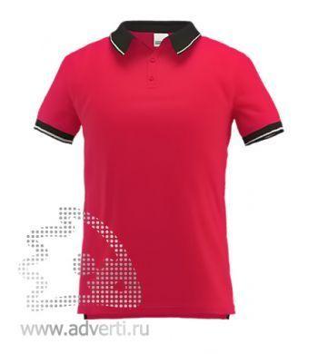Рубашка поло «Stan Contrast», мужская, красная