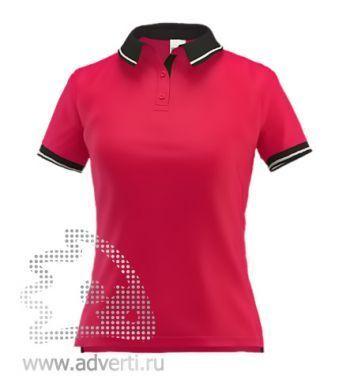 Рубашка поло «Stan Contrast W», женская, красная с черным