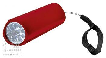 Фонарь треугольный с 9 LED лампочками красный