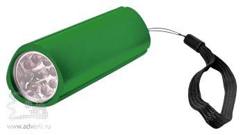 Фонарь треугольный с 9 LED лампочками зеленый