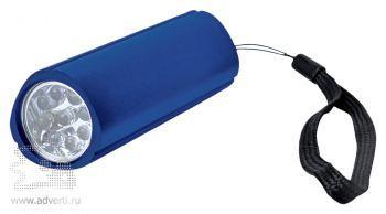 Фонарь треугольный с 9 LED лампочками синий
