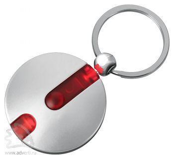Брелок-фонарик «Круг», красный
