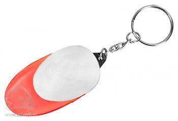 Брелок-фонарик «Овал», красный