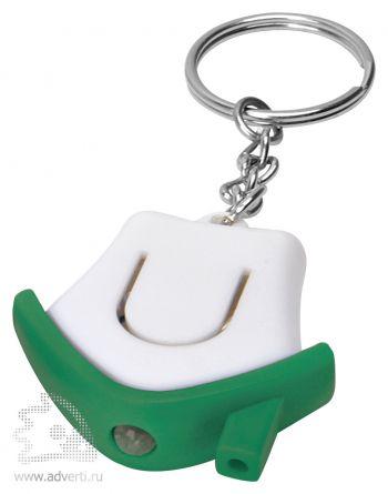 Брелок-фонарик «Дом», зеленый