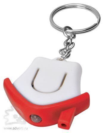 Брелок-фонарик «Дом», красный