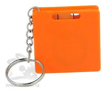 Брелок «Строитель» с рулеткой, оранжевый