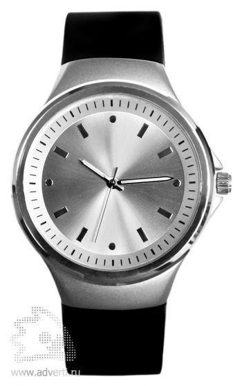 Часы наручные «Gaudy», мужские, серебряный корпус с черным ремнем и серебряным