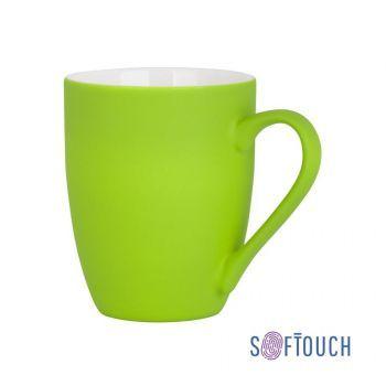 Кружка «Trend», покрытие soft touch, салатовая