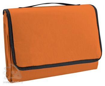 Коврик пляжный с надувной подушкой «Beach», оранжевый