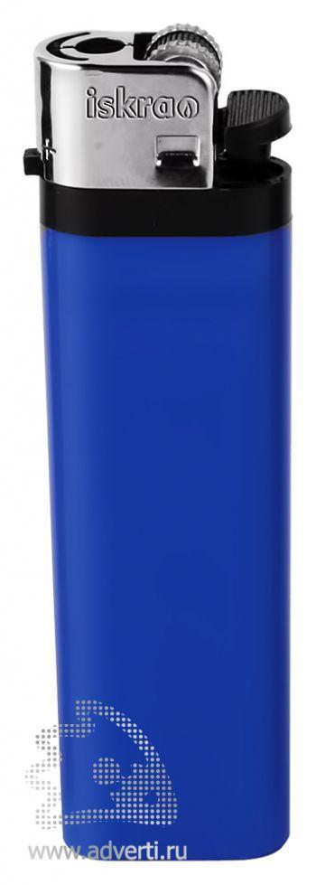 Зажигалка кремневая «Iskra», синяя