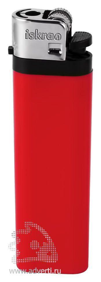 Зажигалка кремневая «Iskra», красная