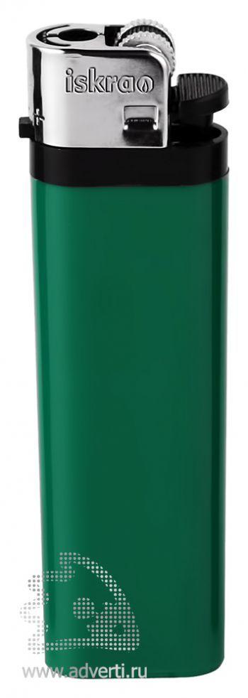 Зажигалка кремневая «Iskra», зеленая