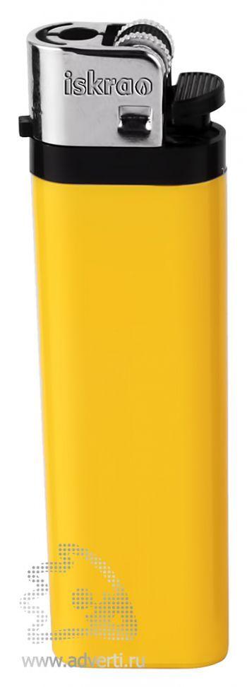Зажигалка кремневая «Iskra», желтая