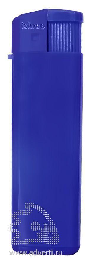 Зажигалка пьезо «Iskra», глянцевая, синяя