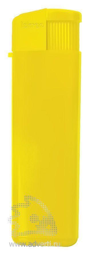 Зажигалка пьезо «Iskra», глянцевая, желтая
