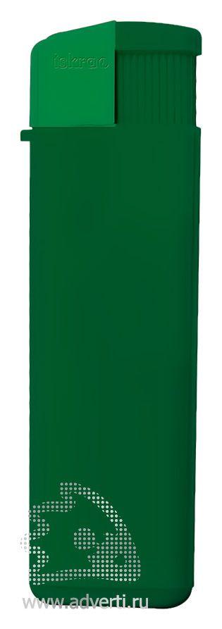 Зажигалка пьезо «Iskra», глянцевая, зеленая