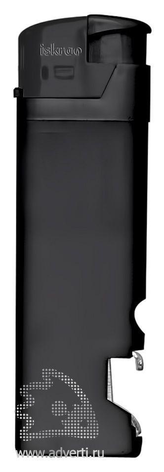 Зажигалка пьезо «Iskra» с открывалкой, черная
