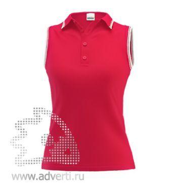Рубашка поло «Stan Hot W», женская, красная с белым
