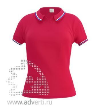 Рубашка поло «Stan Russian W», женская, красная