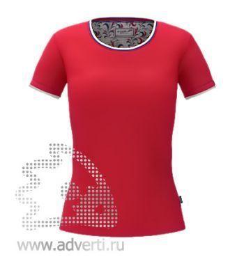 Футболка «Ekaterina City W», женская, красная
