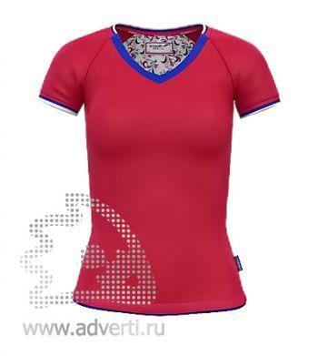 Футболка «Moscow Style W», женская, красная
