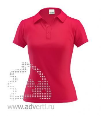 Рубашка поло под сублимацию «Stan Poli W», женская, красная