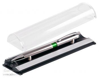 Набор «iP»: ручка шариковая в футляре, зеленая