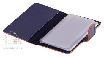 Футляр для дисконтных карт «Everest», синий с оранжевым