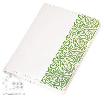 Обложка для документов «Russia», белая с зеленым