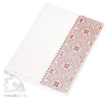 Обложка для документов «Russia», белая с красным