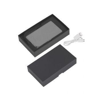 Зарядное устройство «Камень», с покрытием soft grip, в подарочной коробке, 4000 mAh, серый