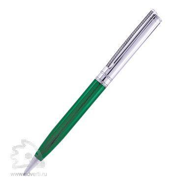 Шариковая ручка «Voyage» BeOne, зелено-серебристая