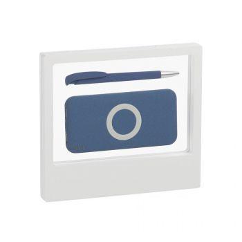 Набор «Камень» на 2 предмета, с покрытием soft grip, белый, синий