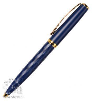Шариковая ручка «Opera Blue», синяя с золотистым