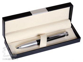 Набор «Megapolis»: ручка шариковая в подарочной коробке, черный с серебристым