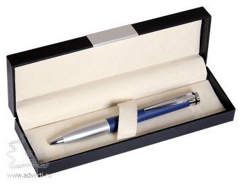 Набор «Megapolis»: ручка шариковая в подарочной коробке, синий с серебристым