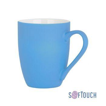 Кружка «Trend», покрытие soft touch, голубая