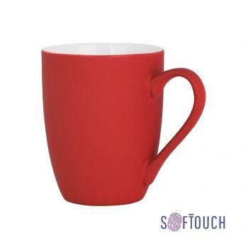 Кружка «Trend», покрытие soft touch, красная