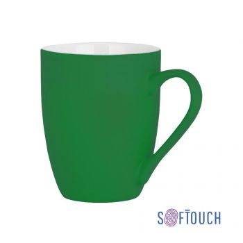Кружка «Trend», покрытие soft touch, зеленая