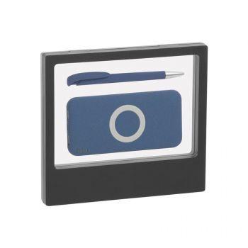 Набор «Камень» на 2 предмета, с покрытием soft grip, черный, синий
