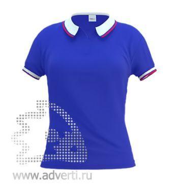 Рубашка поло «Stan Russian W 10», женская, синяя