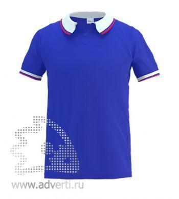 Рубашка поло «Stan Russian 10», мужская, синяя