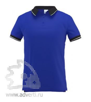 Рубашка поло «Stan Contrast», мужская, синяя
