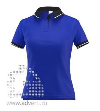 Рубашка поло «Stan Contrast W», женская, синяя с черным